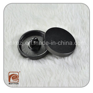 Metal Alloy Gun Metal Color Jean Button
