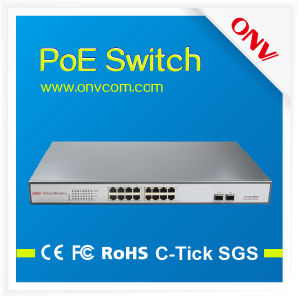 High Quality Full Gigabit 16 Port Poe Switch (POE33016PF)