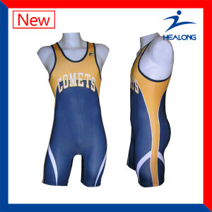 Team Kids Wrestling Clothing Singlets for Sale pictures & photos