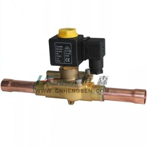 """D C F -06 Solder Refrigeration Solenoid Valve 3/4"""" O D F /Normally Closed Solenoid Valve/Direct Operation Solenoid Valve Suitable for Air Conditioning System pictures & photos"""