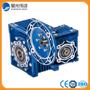 Aluminum Body Right Angle Double Worm Gearbox pictures & photos