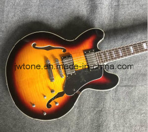 Flamed Maple Top Double F Hole Jazz 355 Electric Guitar pictures & photos