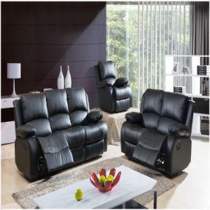 Black PU Recliner Sofa, Promotional Sofas (A-3705)