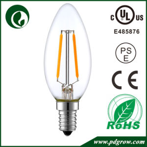 Dimmable E14 Filament LED Candle Bulb 4W 6W 2W 1W