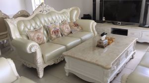 High Quality Royal Style Leather Sofa (B16) pictures & photos