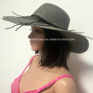 100% Straw Hat, Fashion Floppy Style with Stripe/Silver/String/Hollow Style pictures & photos