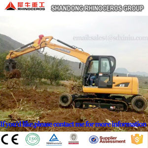 8t Hydraulic Excavator for Sale, 0.3cbm Bucket Wheel Excavator pictures & photos