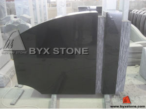 Classic Black Stone Granite Headstone / Tombstone with Unique Shape pictures & photos