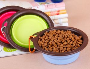 Durable Silicone Collapsible Pet Bowl