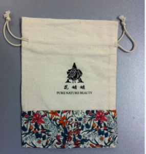 Organic Cotton Drawstring Bags/Cotton Fabric Bag pictures & photos
