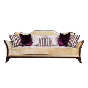 Contemporary Solid Wood Three Person Sofa Era