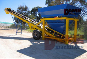 20m3/Hr Mini Batching Plant with Trailer Wheels on Sale pictures & photos