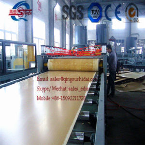 PVC Artificial Marble Board Making Machine PVC Foam Board Machine PVC WPC Artificial Marble Decoration Sheet Board Panel Extrusion Extruder Extruding Machine Ar pictures & photos