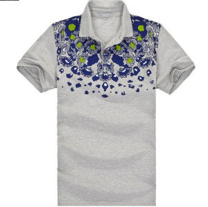 Short Sleeve Printed Fashion Cotton Polo T Shirts pictures & photos