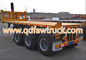 High Quality Tri-Axles 40FT Container Flatbed Trailer pictures & photos