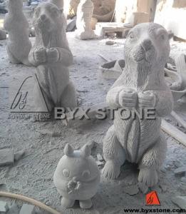 Granite Mole & Totoro Animal Stone Sculpture for Garden Decoration pictures & photos