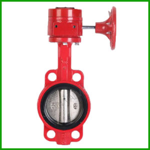 Worm Gear Fire Wafer Butterfly Valve pictures & photos