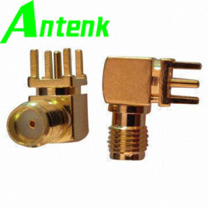 R/a Crimp Plug, Female RF Connector, Gold Plated SMA Connector pictures & photos