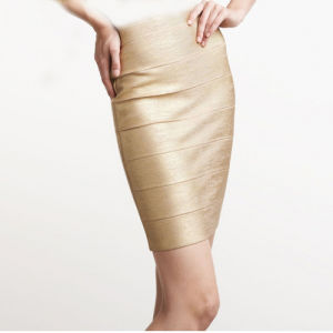 Hot Gold Foil Mini Young Girl Short Skirt pictures & photos