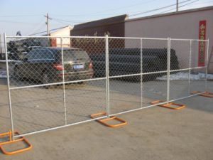 Temporary Chain Link Fence Panels 6′x12′ Mesh Opening 57mm X 57mm X 3.00mm pictures & photos