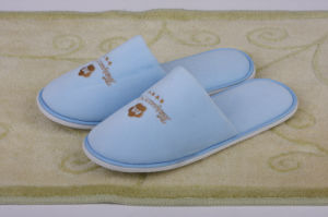 Sky Blue Close Toe Slipper