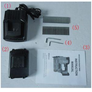 18V Li-ion Air Cordless Nailer 16 Gauge Nails 50mm Hqdbat50 pictures & photos