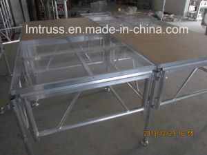 New Arrival Fiber Glass Acrylic Glass Plexiglass Stage Acrylic Stage, Aluminum Assembly Stage for Sale with Top Quality Competitive Price pictures & photos