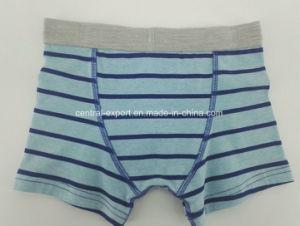 Yarn Dye Blue Strip Children Underwear Boy Boxer Short Boy Brief pictures & photos