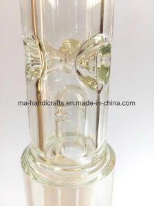 16 Inch Straight Glass Water Pipes with Milky White Perc pictures & photos