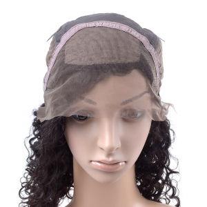 Black Color Brazilian Silk Front Lace Wig pictures & photos