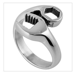 New Product for 2013 Fashion Jewelry Casting Wrench Ring Stainless Steel Jewelry - Wrench Design (RD-ER0012)
