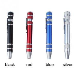 Portable 8PC Aluminium Alloy Precision Screwdriver Pen Tool pictures & photos