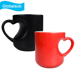 Wholesale Heart Handle Sublimation Color Changing Magic Mug pictures & photos