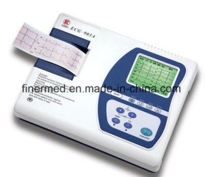 Portable Three Channel ECG Electrocardiograph with Rechargeable Battery pictures & photos