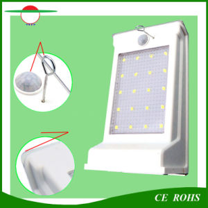 LED Solar Street Lamp 20 LED Security Motion Sensor Dim Light Outdoor Wall Solar Garden Lighting pictures & photos