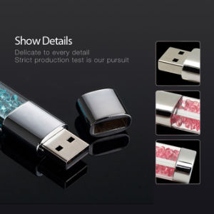 Free Customize Logo New Fashion Diamond USB 2.0 Flash Drive pictures & photos