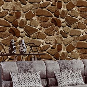 Cheap Price Wholesale Home Interior Wall Decor 3D Stone Wallpaper Guangzhou