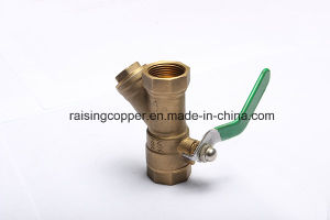 Brass Ball Valve with Strainer pictures & photos