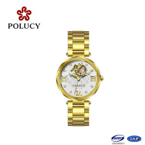 Made in China Gold Automatic Lady Watch Mechancial Women Watch pictures & photos