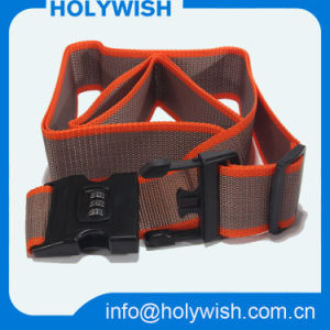 Promotion Fabric Custom Logo Luggage Strap with Detach Buckle pictures & photos