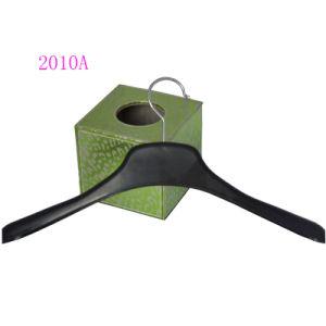 Manufature Dongguan 18 Inches Jacket Display Wholsale Custom Black Plastic Garment Hanger pictures & photos