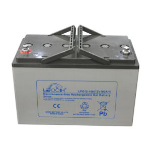 12V 100ah Deep Cycle AGM Solar Battery UPS Battery pictures & photos