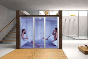 Family Using Hot Sale Acrylic Wet Steam Room 16b pictures & photos