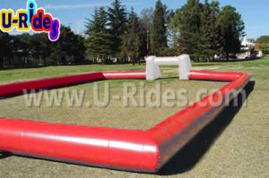 Cheap Wholesale Inflatable Soccer Arena Human Football Soccer Mannequin With Net pictures & photos