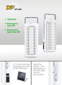 LED Rechargeable Enmergency Light pictures & photos