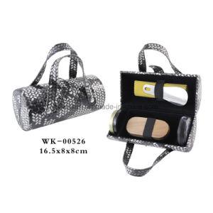 Classic Black Leather 5PCS Nail Care Tools Travel Shoe Shine Kit pictures & photos