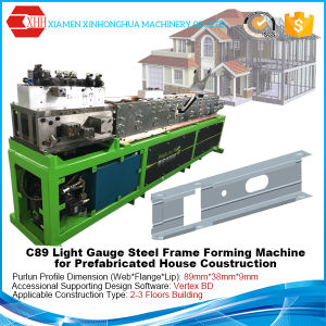C89 Light Steel Structure Frame Roll Forming Machine for Prefabricated pictures & photos