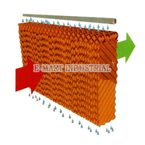 Yellow Evaporative Wet Pad for Ventilatiion System pictures & photos