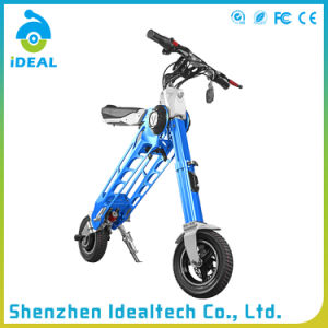 Folded 25km/H 350W Electric Mobility Motor Scooter pictures & photos