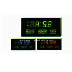 LED Color Digit Week Day and Date Display Calendar Clock pictures & photos